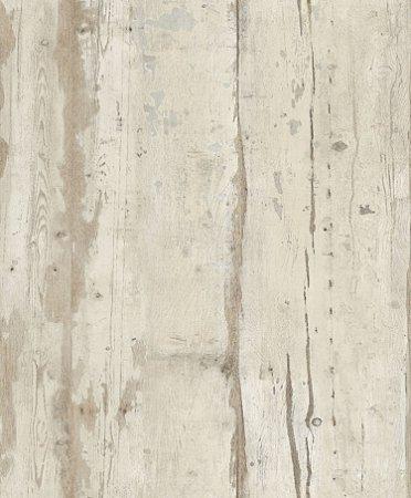 Papel De Parede Vinilico Picasso Madeira Marrom claro com cinza L109-07