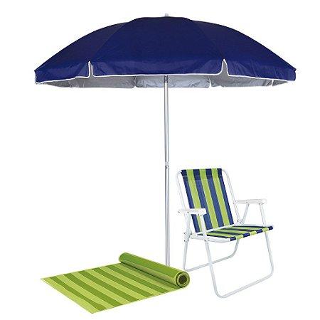 Guarda Sol Praia, Camping e Piscina 2,60mts - Azul Mor-3750