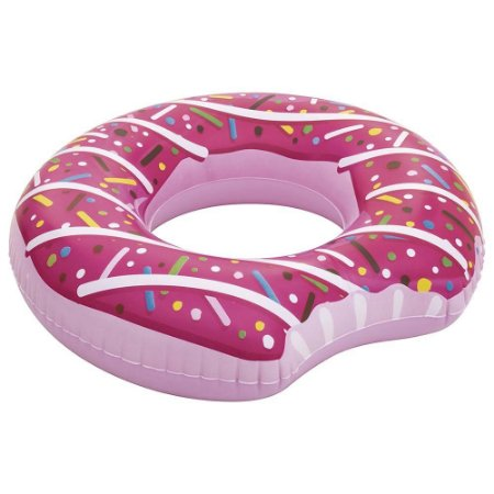 Boia Praia E Piscina Rosquinha Donut Rosa Inflável Mor Rosa