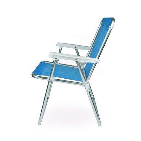 Cadeira ALTA ALUM SANNET- AZUL - MOR - 2274