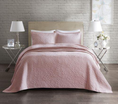 Colcha Florence Home Design Solteiro - 2,20m x 1,60m - Com Porta Travesseiro - Rose.