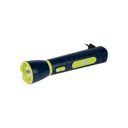 Lanterna Luminária Power Led 65 Lumens Recarregável Mor- 9181