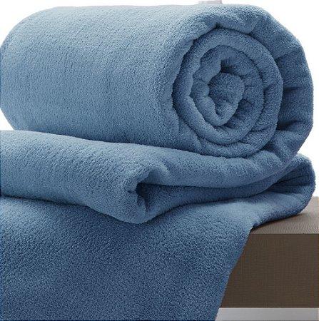 Manta Azul Índigo Solteiro Microfibra Corttex Home Design 2,00 x 1,50 mts