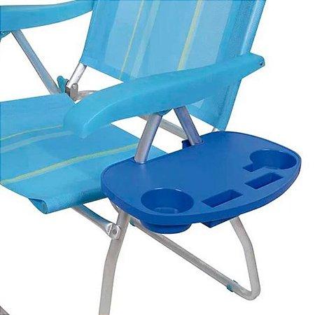 Mesa Portátil Para Cadeira Praia Piscina Porta Copos Mor