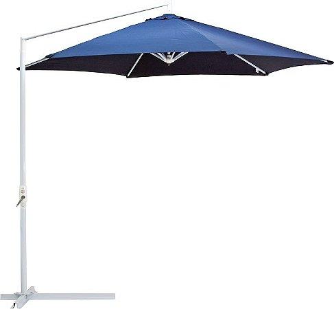 Ombrelone Suspenso Malibu Com Manivela 3 M Articulado Azul Mor-9002