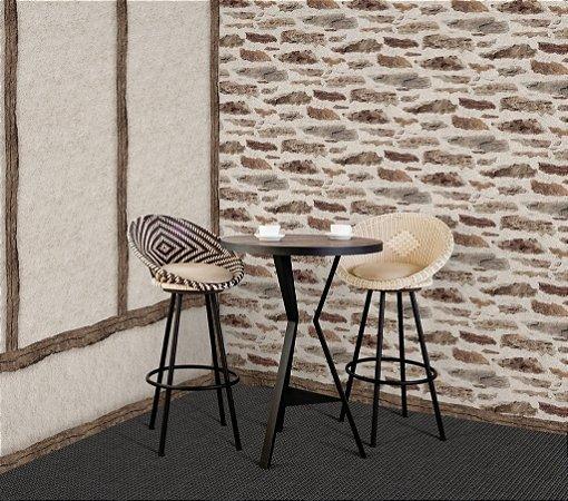 Papel de parede Cimento Rustico e Madeira Auto Relevo Replik J987-07