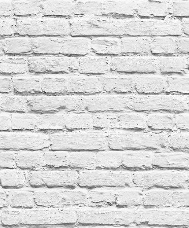 Papel de Parede Freestyle Estilo Muro de Tijolos Cinza Claro - L22609
