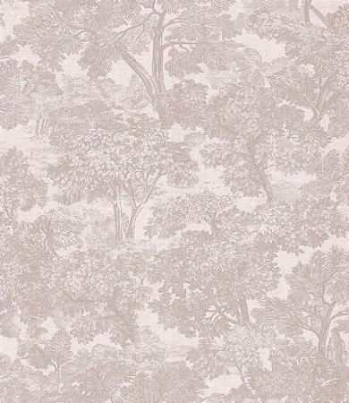 Papel de Parede Garden Estilo Floresta Cinza - SZ002722