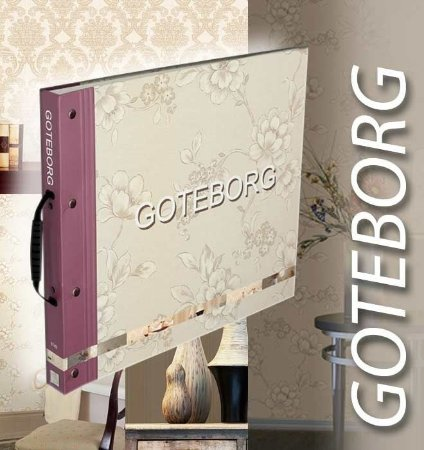 Papel de Parede Goteborg, Floral Marrom e Azul Claro - GT28944