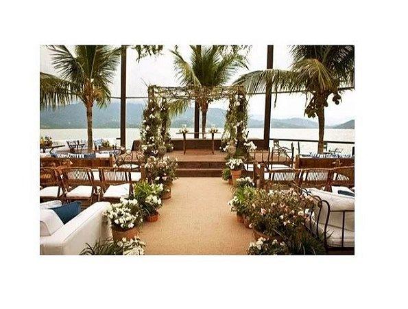 Passadeira Carpete 1m Largura Bege Para Casamento, Festas 5 Metros de comprimento