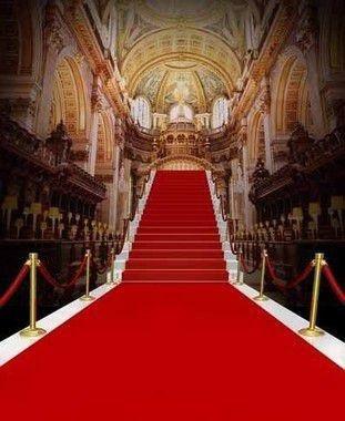 Passadeira Carpete 2m Largura Vermelho Para Casamento, Festas 5 Metros de comprimento