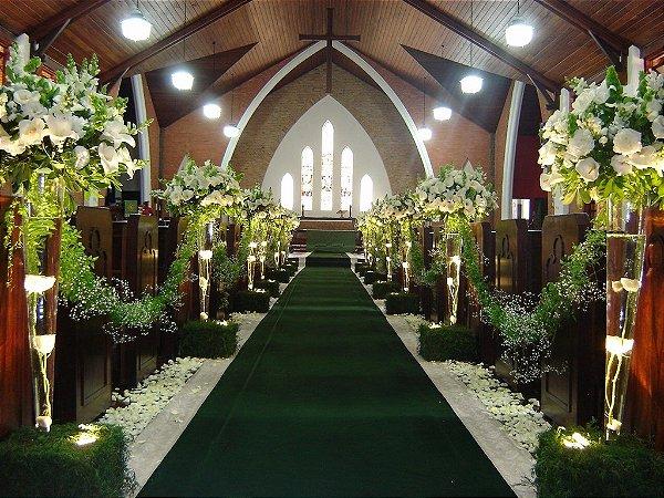 Passadeira Tapete Verde Para Casamento, Festas 20 Metros de comprimento