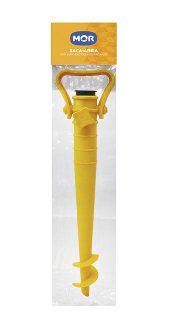Saca Areia com suporte para Guarda Sol Amarelo - Mor 3694
