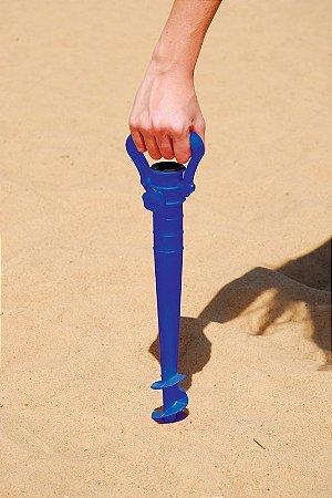 Saca Areia com suporte para Guarda Sol Azul- Mor 3694