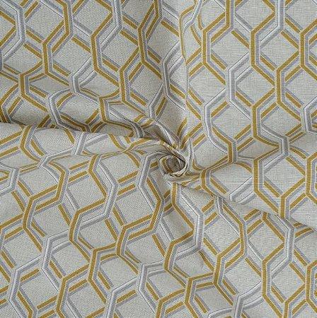 Tecido Acqua Sammer Geométrico em Tons de Amarelo - Summer 329
