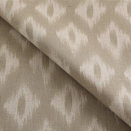 Tecido algodão impermeabilizado ikat Linhão  Bege Sev 20