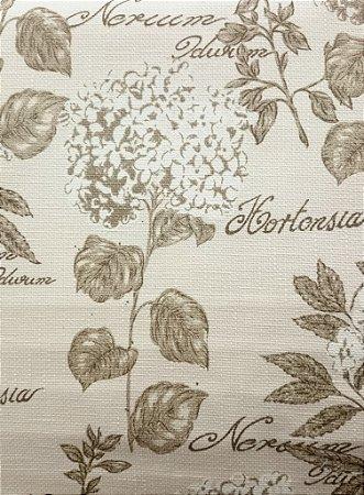 Tecido algodão impermeabilizado Linhão Creme Hortencia Sev 14