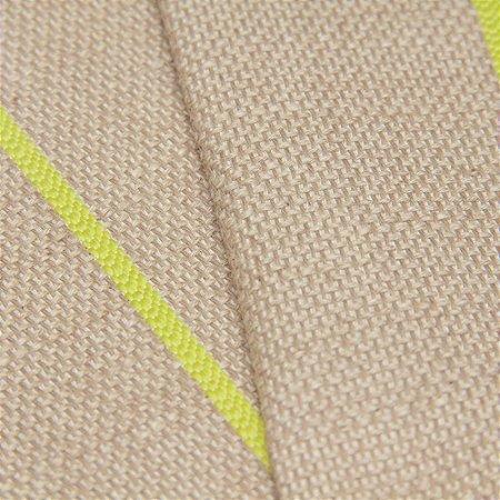 Tecido algodão Jacquard Impermeabilizado Linho Bege com liso Amarelo Limão - Aus 20