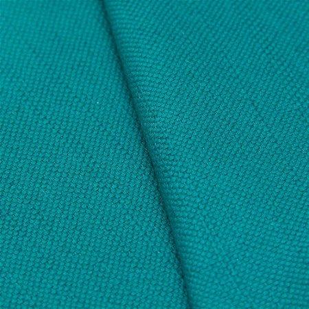 Tecido algodão Jacquard Impermeabilizado Liso Turquesa - Aus 06