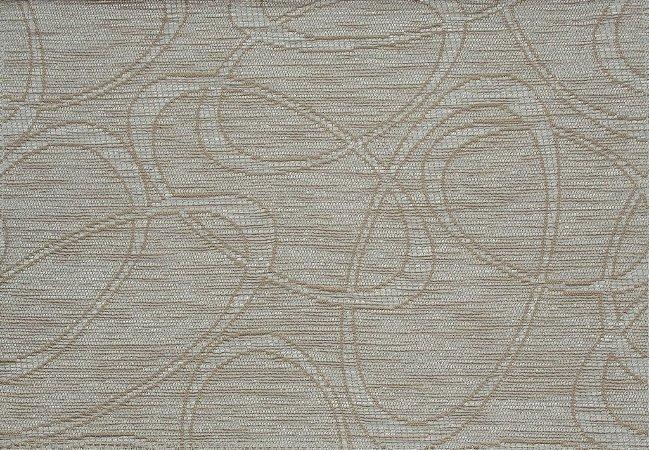 Tecido Chenille Abstrato Bege Claro e Areia - Pol 06