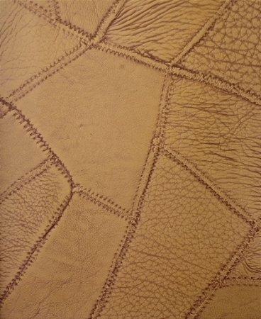 Tecido courvin costurado Mostarda - 03