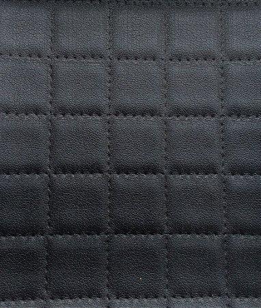 Tecido courvin estilo perfurado leve brilho Preto - Cristal 07