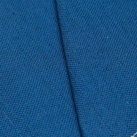 Tecido linho Jacquard Impermeabilizado Azul Jeans Liso - Aus 40