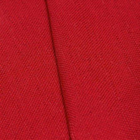 Tecido linho Jacquard Impermeabilizado Liso Vermelho - Aus 47