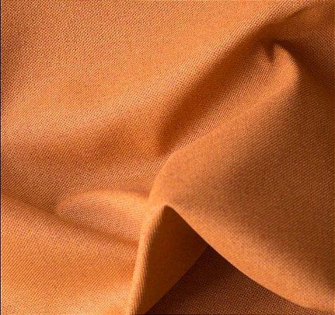 Tecido para Sofá e Estofado Impermeabilizado Laranja Liso- AST- 18