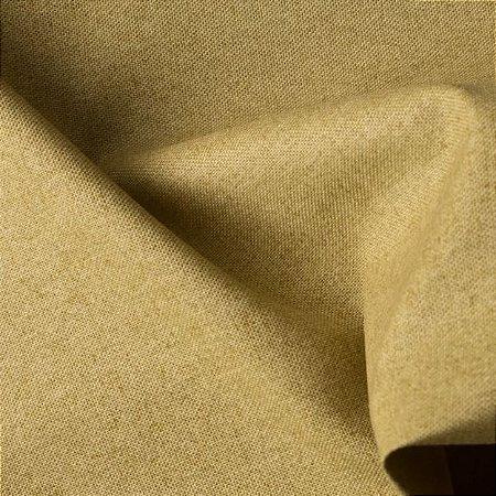 Tecido para Sofá e Estofado Impermeabilizado Mostarda Liso - AST-  22