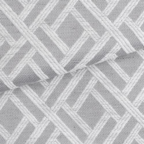 Tecido para Sofá e Estofado Jaquard Cinza e Branco Ferr - 01