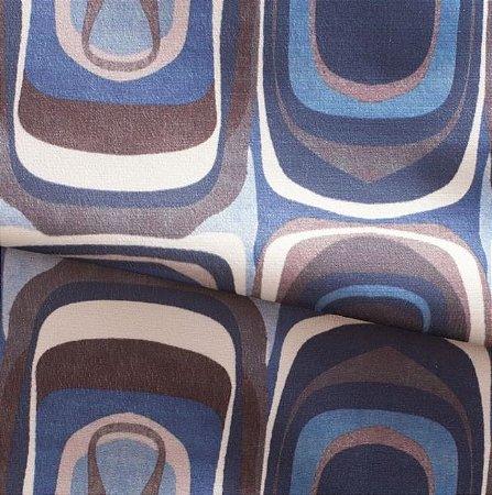 Tecido para Sofá e Estofado Veludo Em tons de Azul - MARSE 17