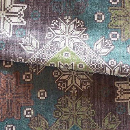 Tecido para Sofá e Estofado Veludo Geométrico em Tons de Verde - MARSE 48