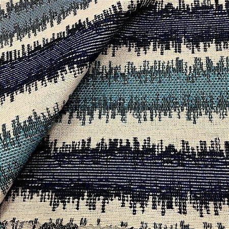 Tecido Para Sofá Jacquard Listrado Azul - Évora 31