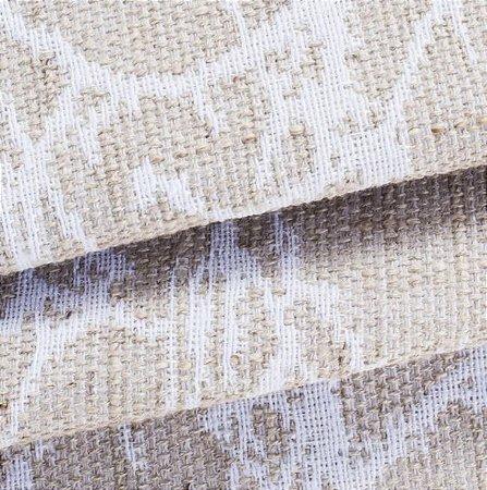 Tecido para Sofá Linho Rústico Desenho Ikat Bege com Branco- Vice 16