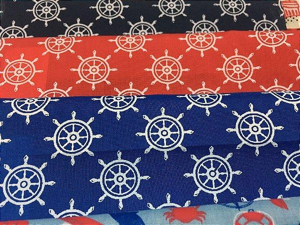Tecido Tricoline Kit com 10 estampas estilo Maritimas e New York - Tamanho de 0,50x70 cm cada estampa - Kit 5