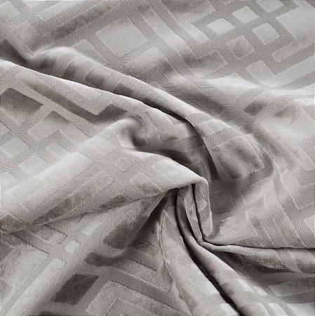 Tecido Veludo Alto-Relevo Geométrico Bege - Inc 02