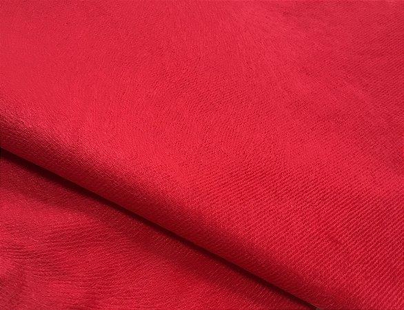 Tecido Veludo Suede Animale cor Vermelho