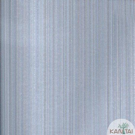 Papel de Parede Grace 3 Listras Azul e Cinza - 3G202505R