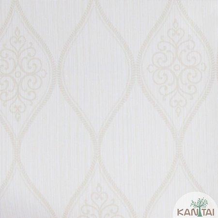 Papel de Parede Grace 3 Brasão Branco e Pérola - 3G203001R