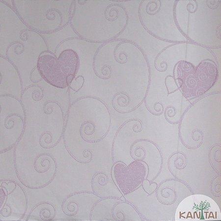 Papel de Parede Grace 3 Arabescos Love Rosa - 3G204301R