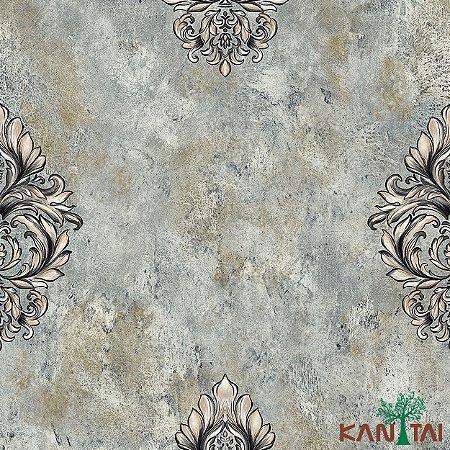 Papel de Parede Moda Em casa 2 Medalhão cimento Índigo - MD700001R