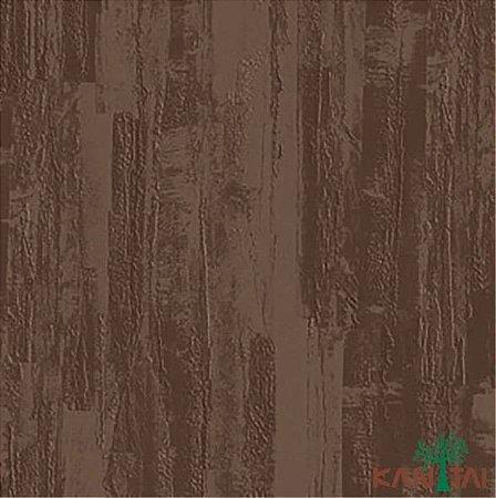 Papel de Parede Moda Em Casa 2 Cimento Texturizado Massa Corrida Marrom Escuro - MD700508R
