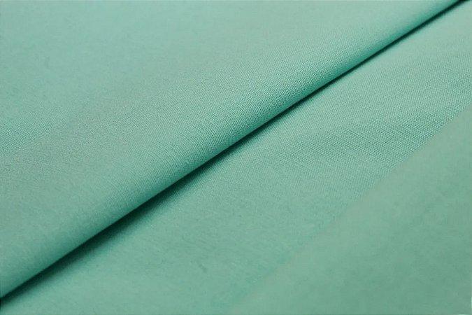 Tecido Tricoline verde Tiffany liso 100% Algodão com 1,50 metros de largura -1675
