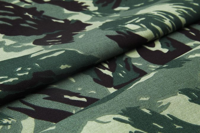 Tecido Tricoline Estampado Camuflado 100% Algodão com 1,50 metros de largura - 2927