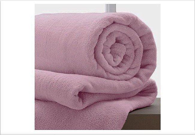 Manta Solteiro Rosa Antigo Microfibra Corttex Home Design 2,00 x 1,50 mts