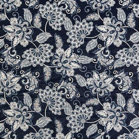 Tecido Jacquard Impermeabilizado Siwa Azul Marinho- Marb 40