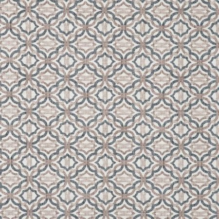 Tecido Jacquard Impermeabilizado Otto Azul-Bege- Marb 42