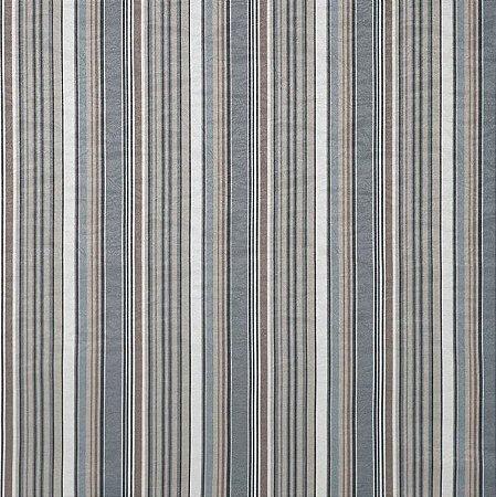 Tecido Jacquard Impermeabilizado Lile Listrado Azul-Caqui- Marb 43