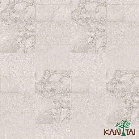 Papel de Parede Moda Em Casa 3 - Mosaico Arabescos Cinza e Prata - MD701401K
